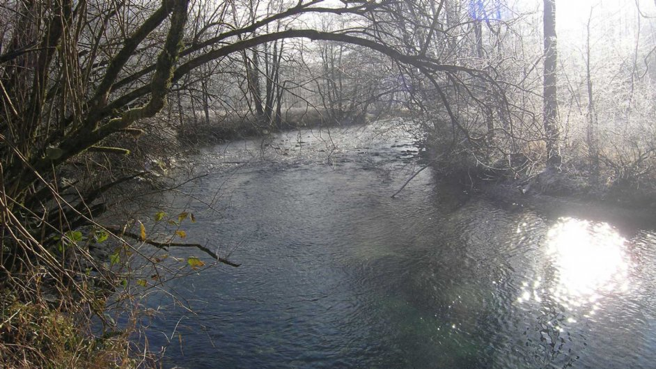 Garbet river in Winter